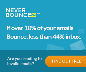 10% bounce less than 44% inbox