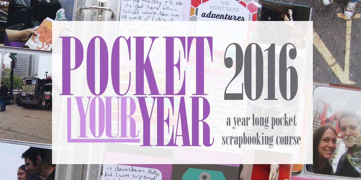 Pocket Your Year Pocket Page Scrapbooking Class