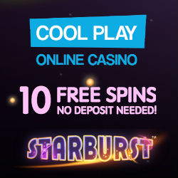 Cool Play Casino | 10 free spins NDB plus £200 free bonus | review