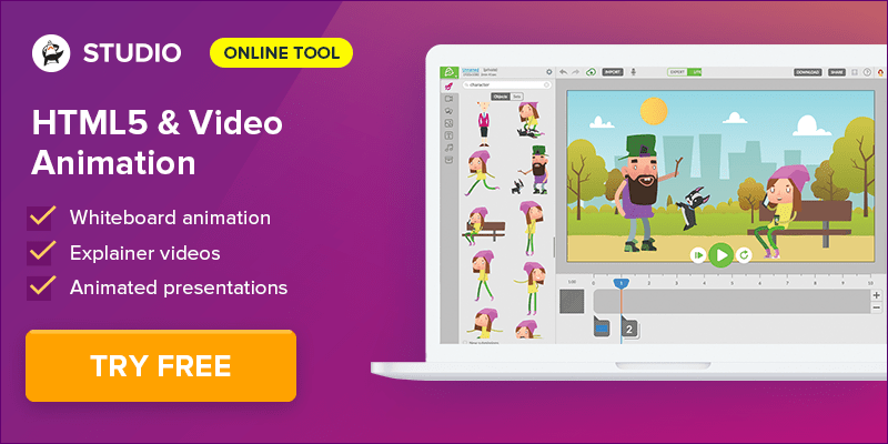 Create HTML5 and Video Animation with Animatron Studio - Sign Up and Get 10% Off!