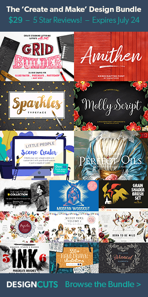 graphic design bundles with extended license