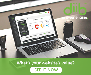 Diib invitation to check website value for free