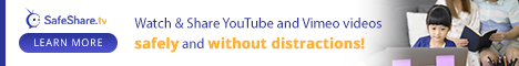 Watch and share YouTube and Vimeo videos safely and without distractions